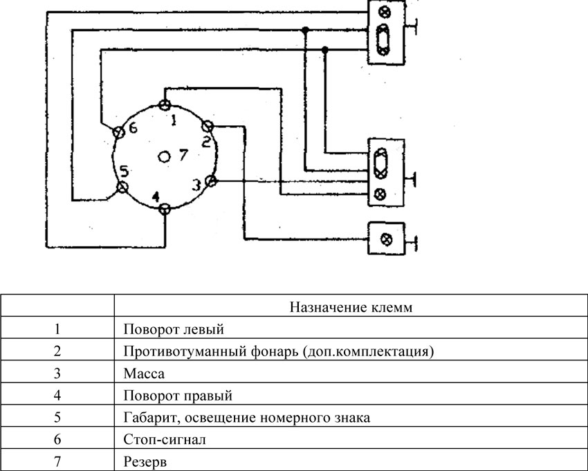 Схема подключения приведена